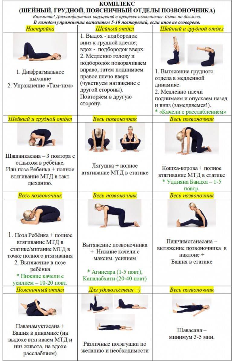 Лечебная физкультура и гимнастика при остеохондрозе: комплексы упражнений для лечения болезни