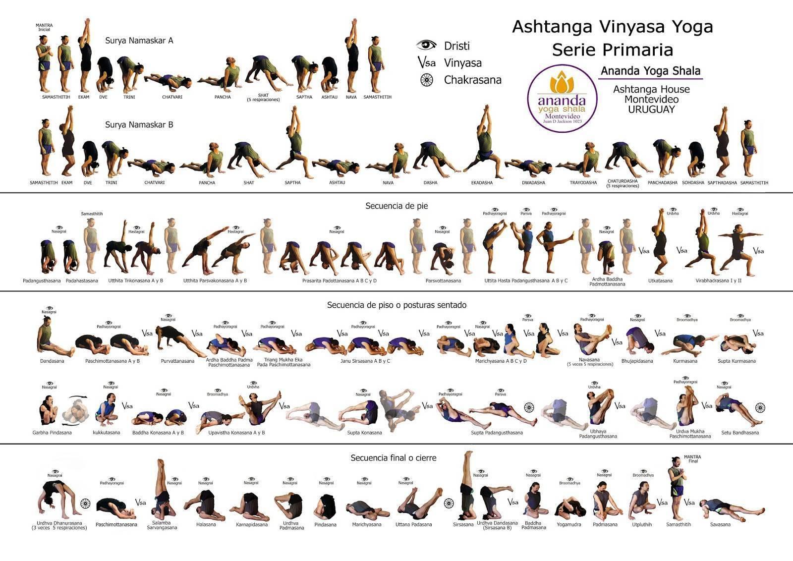 Аштанга виньяса йога:  1, 2, 3, 4 серии в картинках, подборка видео последовательностей и мантры