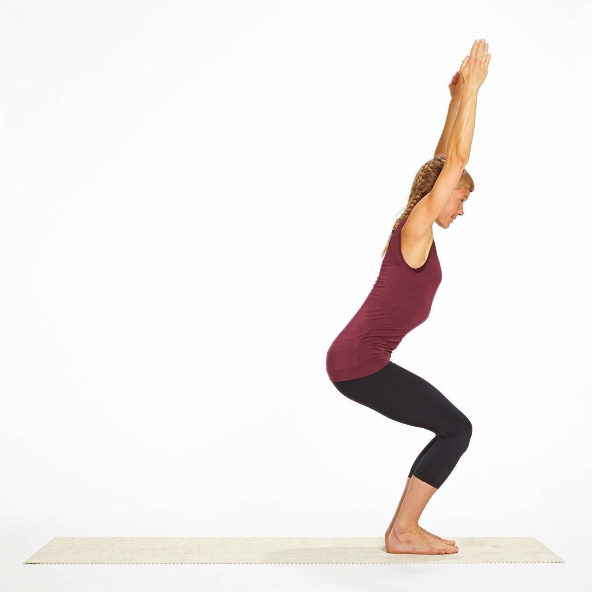 Уткатасана (поза стула). йога для стройности, здоровья и красоты