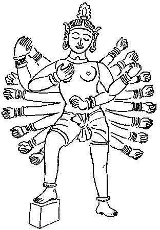 Индийский пантеон богов: брахма, вишну, шива, индра, яма. индуистские божества