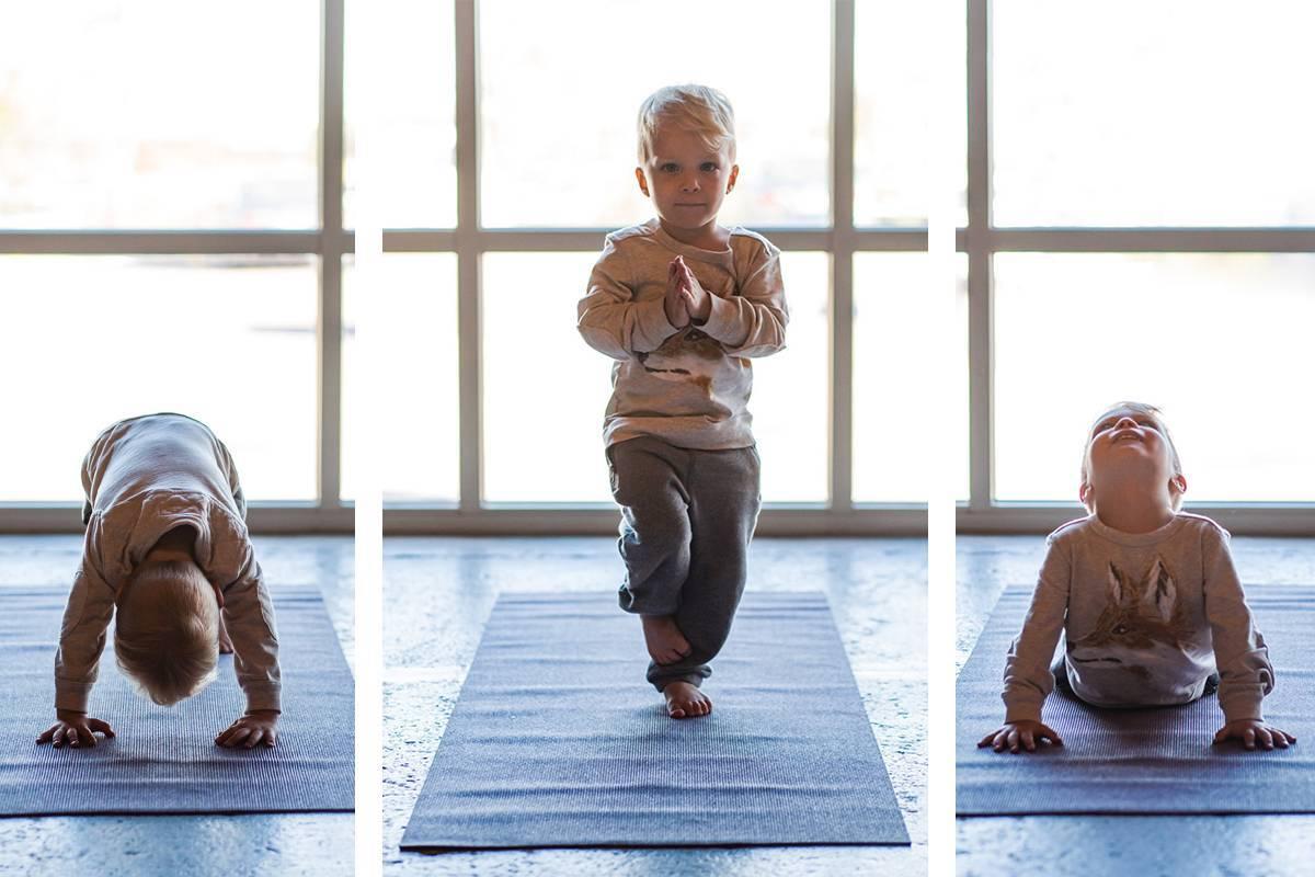 Йога для детей (19 фото): позы детской йоги для малышей 3-6 лет и детей 7-10 лет. польза и вред бэби-йоги