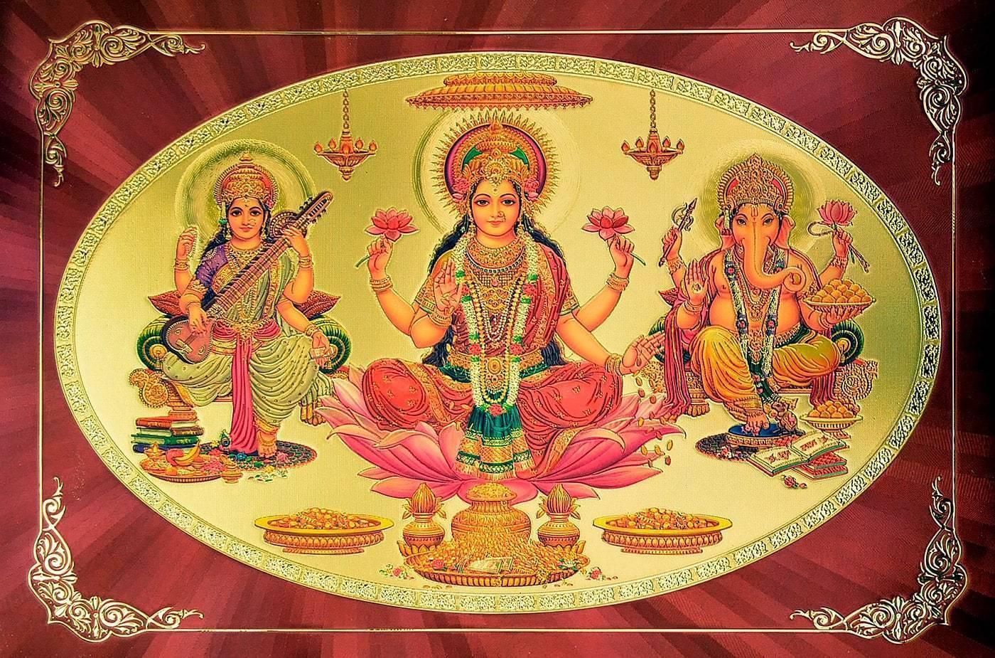 Лакшми – индийская богиня процветания, благополучия и изобилия