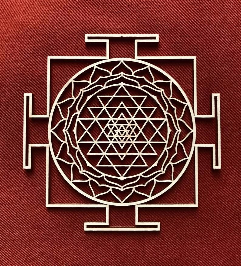 Янтра лакшми или шри янтра для процветания и богатства