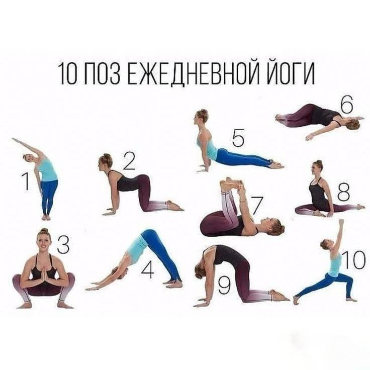 Какая йога лучше для похудения живота и боков, ног и бедер?