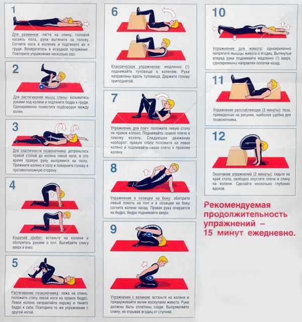 Комплекс упражнений при остеохондрозе грудного отдела
