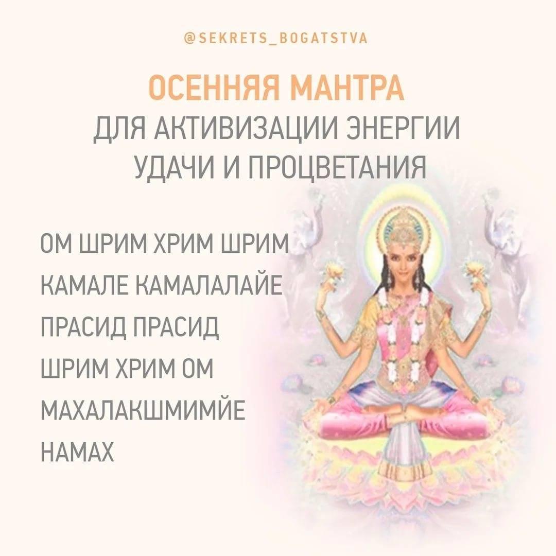Мантра богине лакшми: тексты и значение