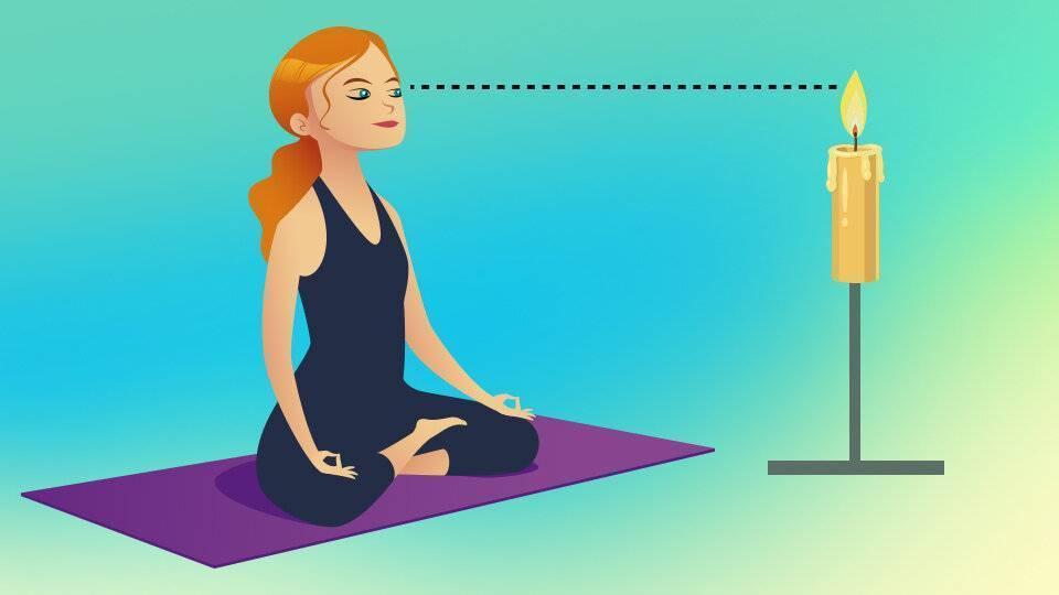 Тратака на свечу техника, медитация, упражнение для восстановления зрения