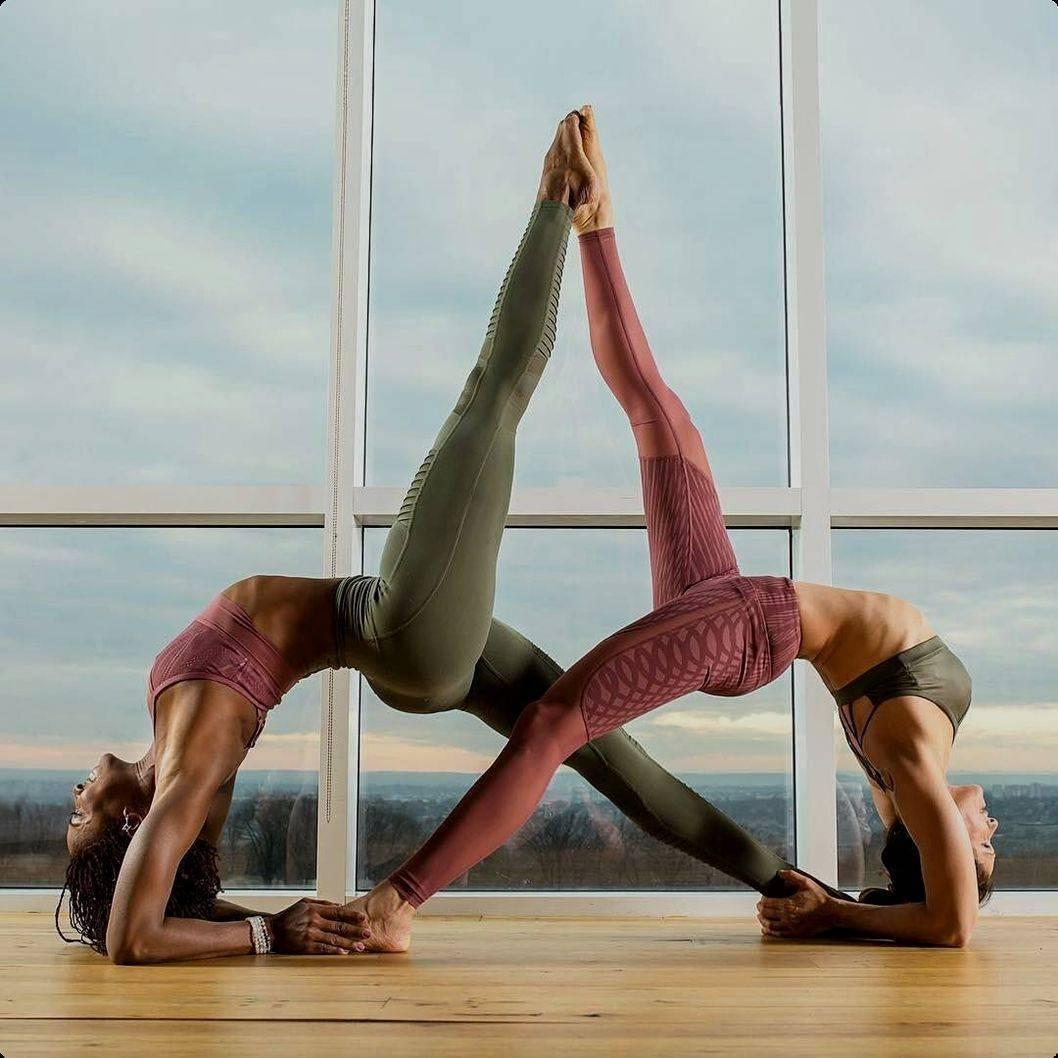 Йога челлендж на двоих человек с фото: легкие и сложные позы