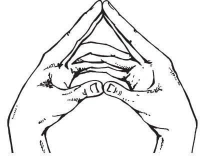 Мудра «парящий лотос»