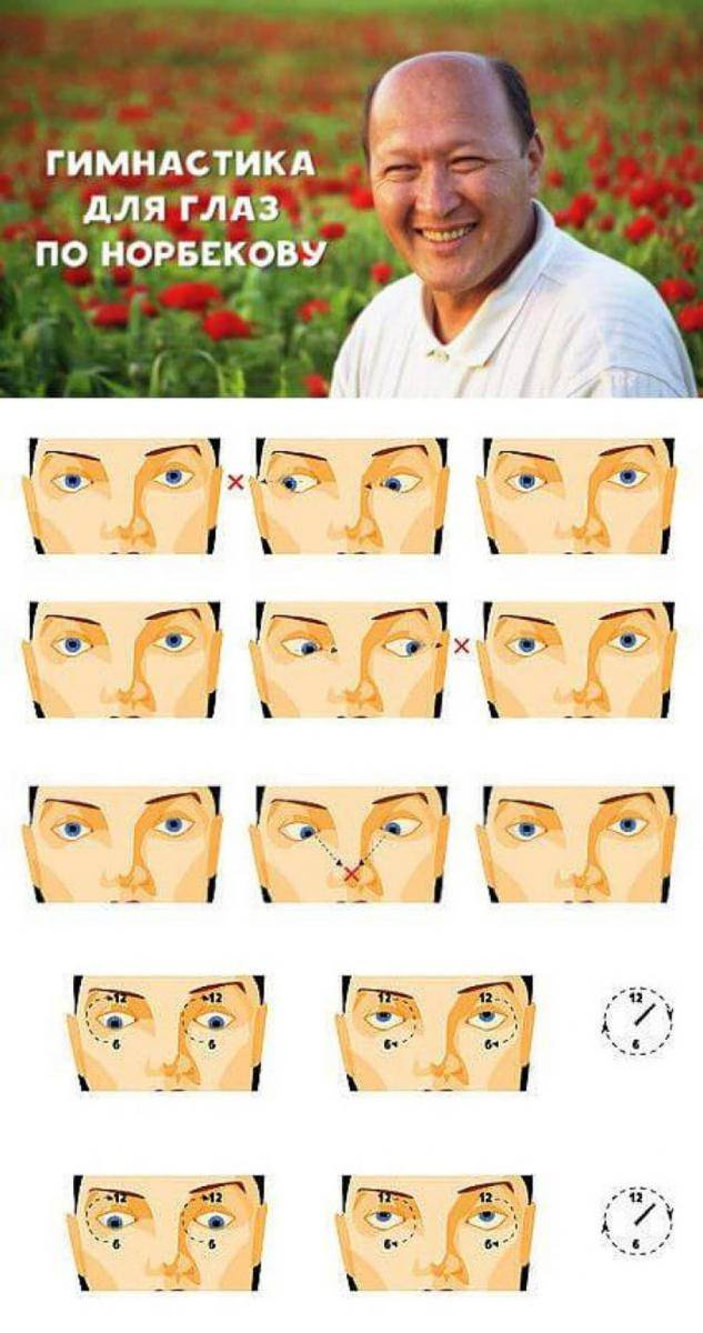 Какие есть упражнения для расслабления глаз при близорукости?