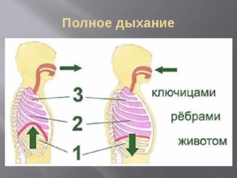 Дыхательные упражнения с уменьшением интенсивности дыхания