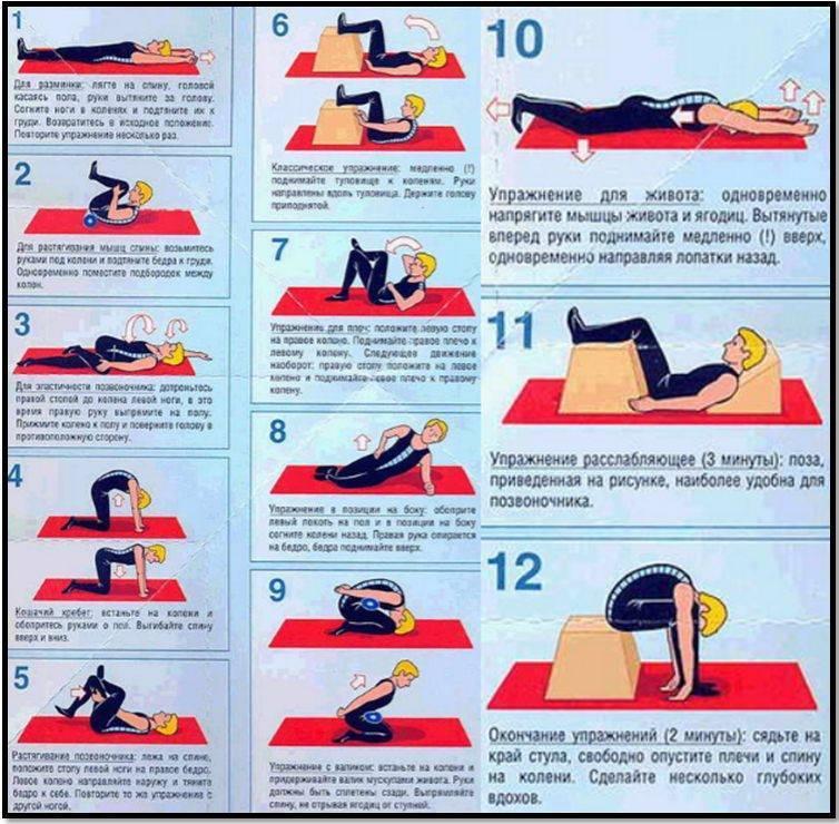 Лечебная гимнастика при остеохондрозе – шейном, грудном и поясничном: кому показана, как выполнять упражнения - сибирский медицинский портал
