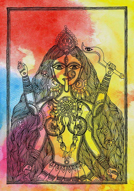 Индийский бог любви верхом на попугае – кама