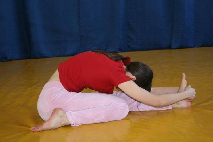 Пашчимоттанасана — поза растягивания спины. анатомия йоги