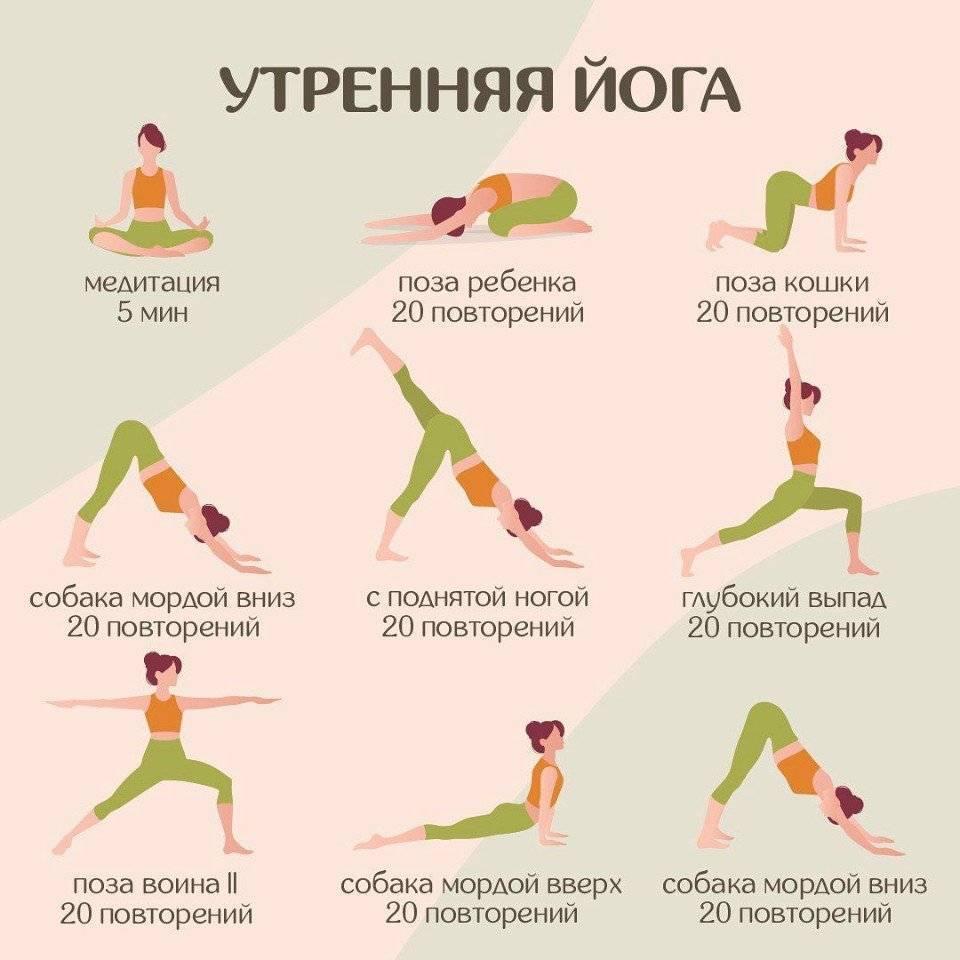 Утренний комплекс йоги для начинающих | yogamaniya