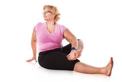 Йога для полных: при похудении, комплекс упражнений начинающим, видео