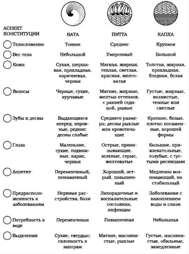 Питта доша - питание и образ жизни