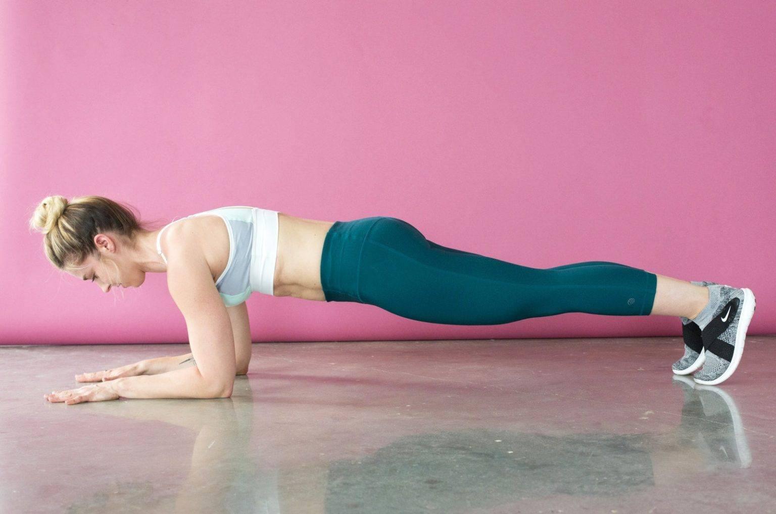 Упражнение планка - как правильно делать до и после