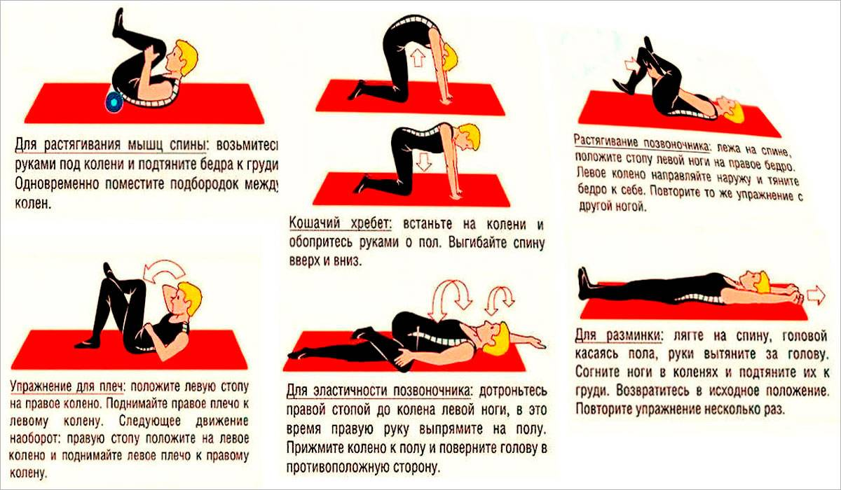 Комплекс упражнений лфк при грудном остеохондрозе. зарядка, лечебная физкультура