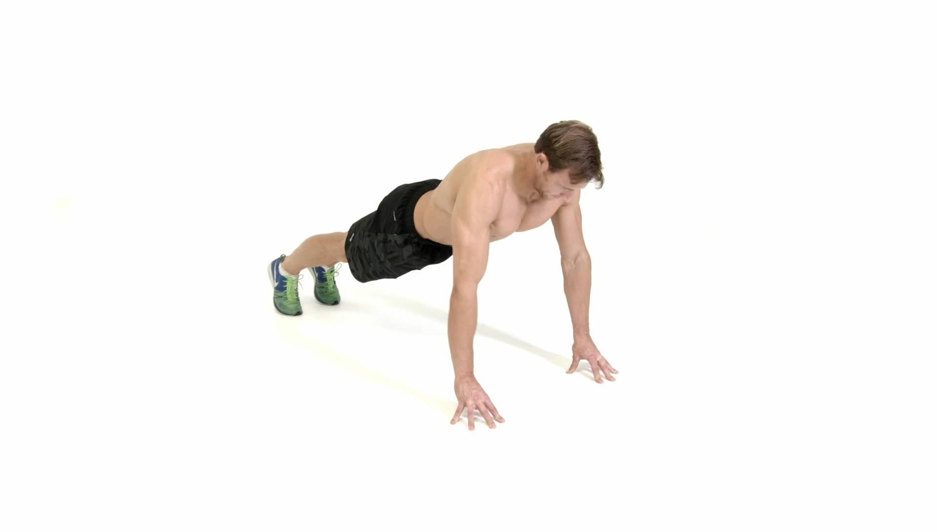 Отжимания в наклоне – ноги выше головы и наоборот